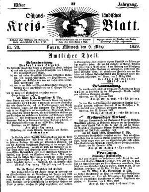 Osthavelländisches Kreisblatt vom 09.03.1859