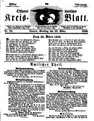 Osthavelländisches Kreisblatt vom 22.03.1859