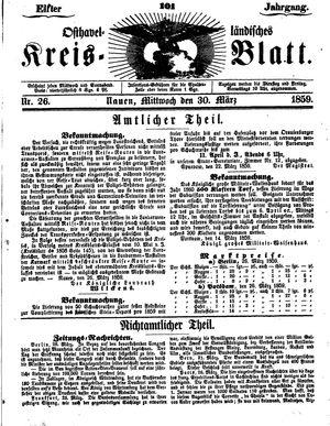 Osthavelländisches Kreisblatt vom 30.03.1859