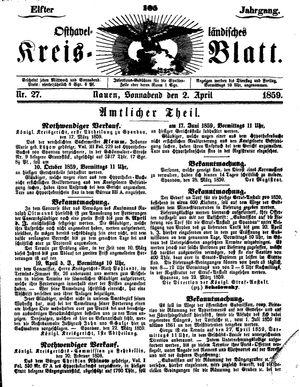 Osthavelländisches Kreisblatt vom 02.04.1859