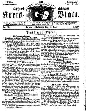 Osthavelländisches Kreisblatt vom 04.05.1859