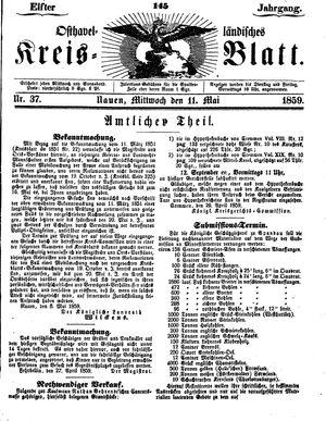 Osthavelländisches Kreisblatt vom 11.05.1859
