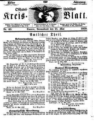 Osthavelländisches Kreisblatt vom 21.05.1859