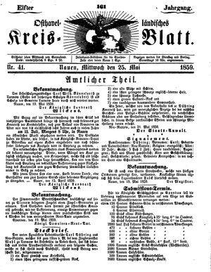 Osthavelländisches Kreisblatt vom 25.05.1859