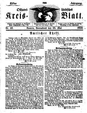 Osthavelländisches Kreisblatt vom 28.05.1859