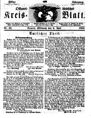 Osthavelländisches Kreisblatt vom 08.06.1859