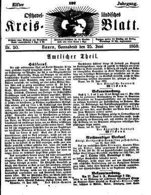 Osthavelländisches Kreisblatt vom 25.06.1859