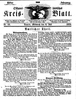 Osthavelländisches Kreisblatt vom 06.07.1859