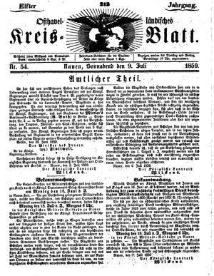 Osthavelländisches Kreisblatt vom 09.07.1859