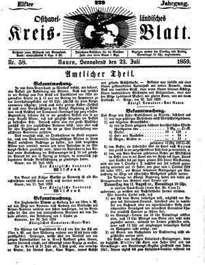 Osthavelländisches Kreisblatt on Jul 23, 1859