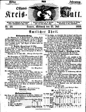 Osthavelländisches Kreisblatt on Jul 27, 1859