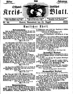 Osthavelländisches Kreisblatt vom 13.08.1859