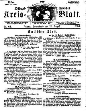 Osthavelländisches Kreisblatt vom 27.08.1859