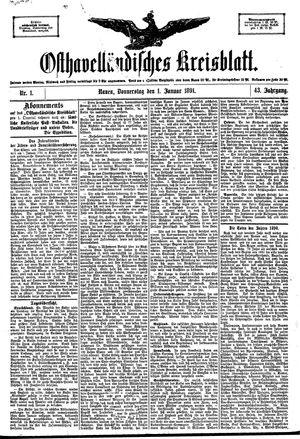 Osthavelländisches Kreisblatt vom 01.01.1891