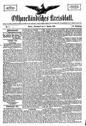 Osthavelländisches Kreisblatt vom 03.01.1891