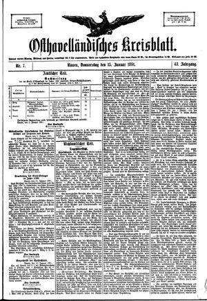 Osthavelländisches Kreisblatt vom 15.01.1891