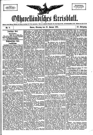Osthavelländisches Kreisblatt vom 20.01.1891