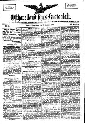 Osthavelländisches Kreisblatt vom 22.01.1891