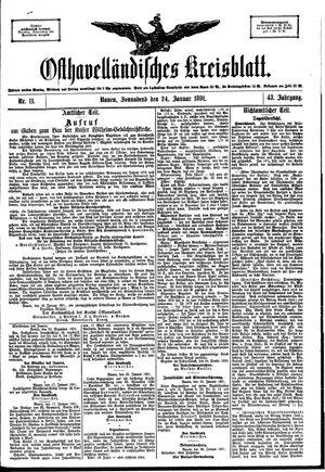 Osthavelländisches Kreisblatt vom 24.01.1891