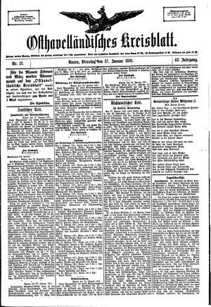 Osthavelländisches Kreisblatt vom 27.01.1891
