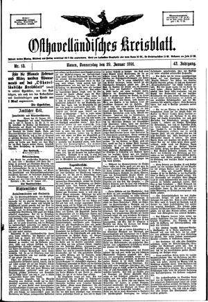 Osthavelländisches Kreisblatt vom 29.01.1891