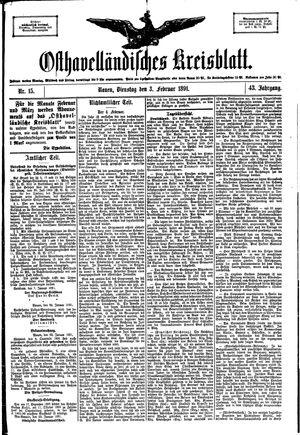 Osthavelländisches Kreisblatt vom 03.02.1891