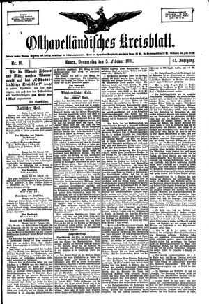 Osthavelländisches Kreisblatt vom 05.02.1891