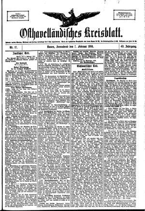 Osthavelländisches Kreisblatt vom 07.02.1891