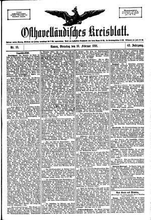 Osthavelländisches Kreisblatt vom 10.02.1891
