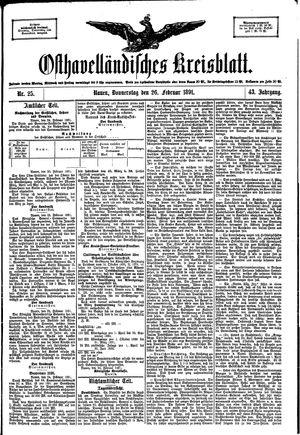 Osthavelländisches Kreisblatt vom 26.02.1891