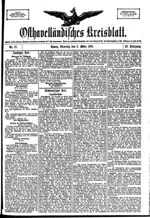 Osthavelländisches Kreisblatt vom 03.03.1891