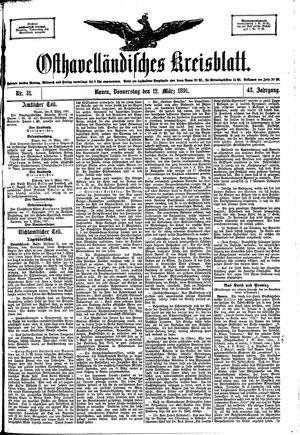 Osthavelländisches Kreisblatt vom 12.03.1891