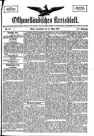 Osthavelländisches Kreisblatt vom 14.03.1891