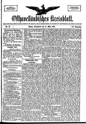 Osthavelländisches Kreisblatt vom 21.03.1891