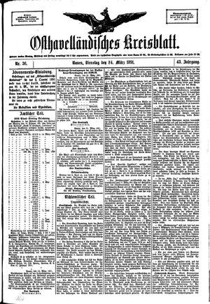 Osthavelländisches Kreisblatt vom 24.03.1891