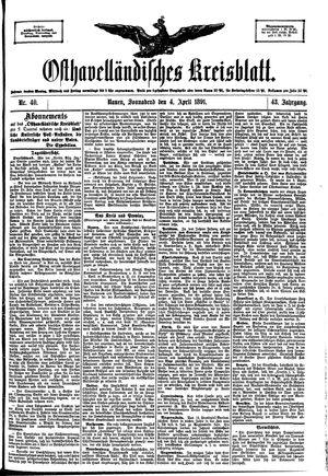 Osthavelländisches Kreisblatt on Apr 4, 1891