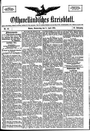 Osthavelländisches Kreisblatt vom 09.04.1891