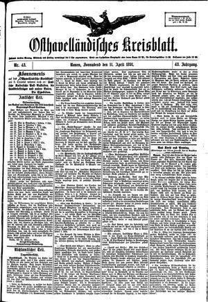 Osthavelländisches Kreisblatt vom 11.04.1891