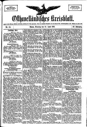 Osthavelländisches Kreisblatt vom 14.04.1891