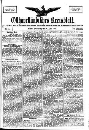 Osthavelländisches Kreisblatt on Apr 16, 1891