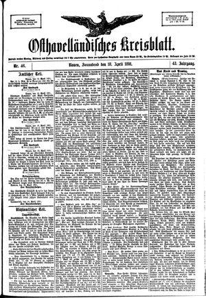 Osthavelländisches Kreisblatt vom 18.04.1891