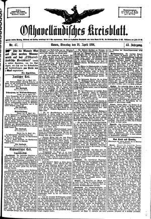 Osthavelländisches Kreisblatt vom 21.04.1891