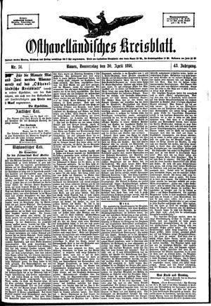 Osthavelländisches Kreisblatt vom 30.04.1891