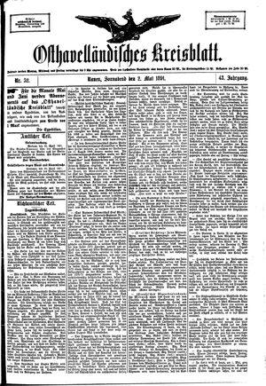 Osthavelländisches Kreisblatt vom 02.05.1891