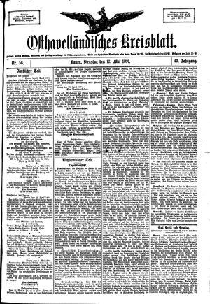 Osthavelländisches Kreisblatt vom 12.05.1891
