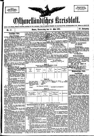 Osthavelländisches Kreisblatt vom 14.05.1891