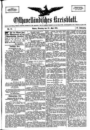 Osthavelländisches Kreisblatt vom 26.05.1891