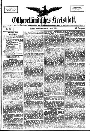 Osthavelländisches Kreisblatt vom 06.06.1891