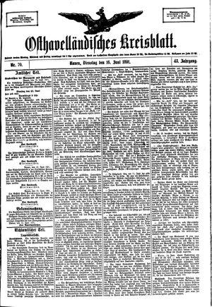 Osthavelländisches Kreisblatt vom 16.06.1891