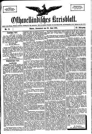 Osthavelländisches Kreisblatt vom 20.06.1891